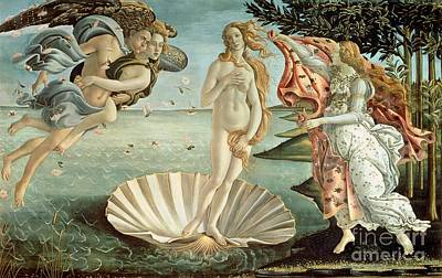 Tempera Painting - The Birth Of Venus by Sandro Botticelli