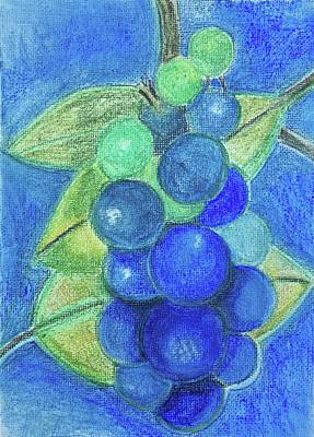 Blue Grapes Drawing - The Birth Of Wine by Regina Jeffers