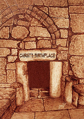 Art Print featuring the painting The Birthplace Of Christ Church Of The Nativity by Georgeta Blanaru