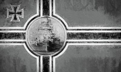 Photograph - The Bismarck In Black And White by JC Findley