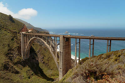 Photograph - The Bixby Bridge by Susan Rissi Tregoning