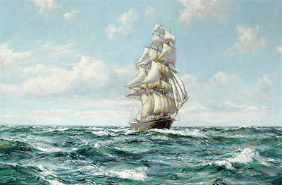 Sphere Painting - The Black Adder by Montague Dawson