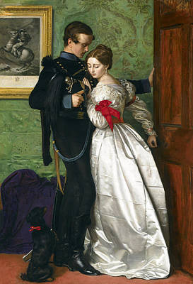 Couple Painting - The Black Brunswicker by Sir John Everett Millais