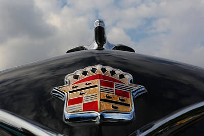 Photograph - The Black Cadillac Angel - Cadillac Emblem  by Lee Dos Santos