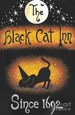 Painting - The Black Cat Inn by Margaryta Yermolayeva
