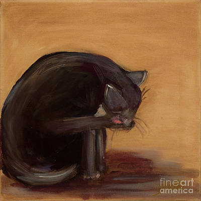 Painting - The Black Cat by Pati Pelz