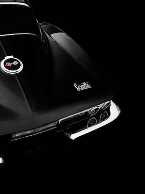 The Black Corvette Sting Ray Art Print