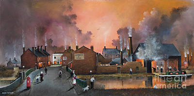 Painting - The Black Country Village by Ken Wood