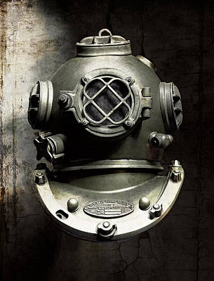 Diving Helmet Digital Art - The Black Deep by Daniel Hagerman