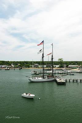 Shoreline Painting - The Black Dog Tall Ship Alabama Vineyard Haven Massachusetts by Michelle Wiarda