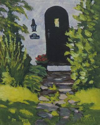 Painting - The Black Door - Art By Bill Tomsa by Bill Tomsa