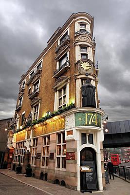 The Black Friar London Pub Bar Art Print by Gill Billington