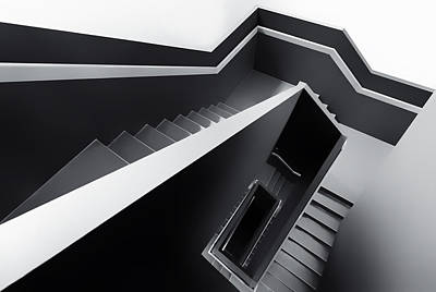 Stairs Photograph - The Black Hole by Gerard Jonkman