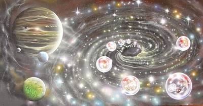 Painting - The Black Hole Multiverse Connection by Sam Del Russi