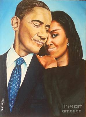 Michelle Obama Painting - The Black House by Michael Wilkins