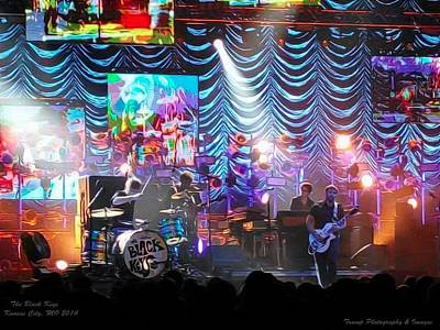 Digital Art - The Black Keys Kcmo by Wesley Nesbitt
