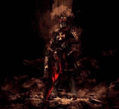 Mixed Media - The Black Knight by Pixabay