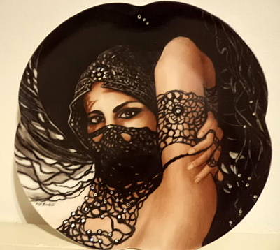 Painting - The Black Lace Veil by Patricia Rachidi