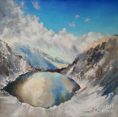 Painting - The Black Lake Oil Painting by Maja Sokolowska