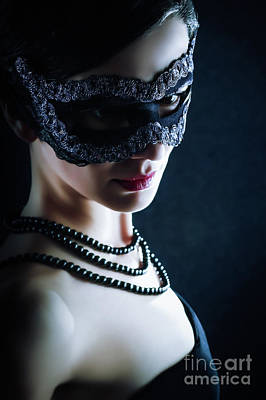 Photograph - The Black Mask Mysterious Woman by Dimitar Hristov