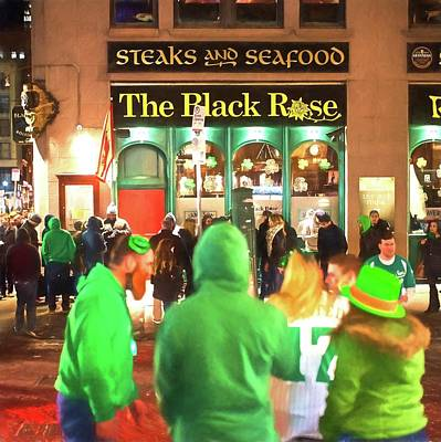 Photograph - The Black Of Rose At Saint Patrick's Day Boston Ma by Toby McGuire