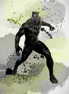 Painting - The Black Panther by Dan Sproul