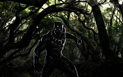 Digital Art - The Black Panther by The DigArtisT
