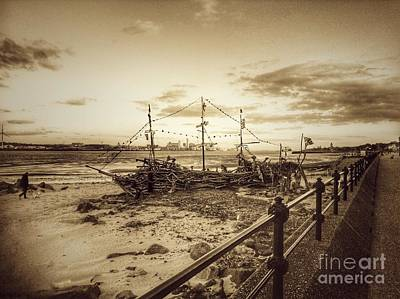Photograph - The Black Pearl In Sepia by Joan-Violet Stretch
