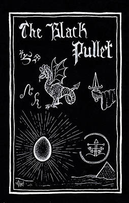 Drawing - The Black Pullet by Bard Algol