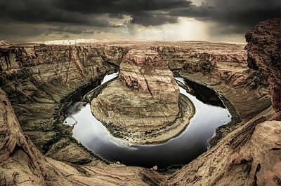 Photograph - Black River Around Horseshoe Bend by Gregory Ballos
