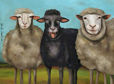 Painting - The Black Sheep by Leah Saulnier The Painting Maniac
