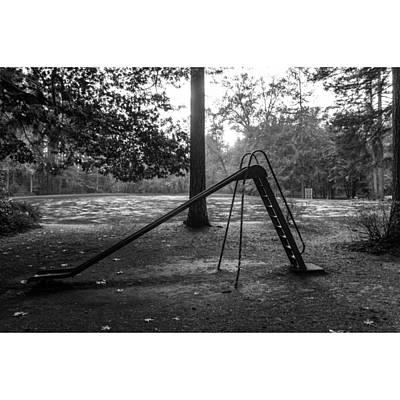 The Black Slide.  Art Print
