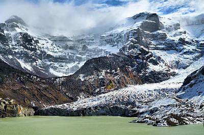The Black Snowdrift Glacier Art Print