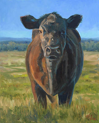 Painting - The Black Steer by Billie Colson