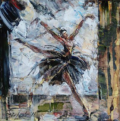 Painting - The Black Swan by Stefano Popovski