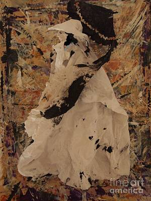 Mixed Media - The Black Umbrella by Nancy Kane Chapman