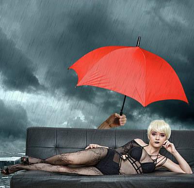 Fantasy Mixed Media - The Black Widow by Smart Aviation