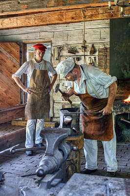 Photograph - The Blacksmith - Fort Atkinson by Nikolyn McDonald
