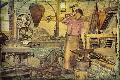 The Blacksmith's Forge Art Print by Elaine Teague