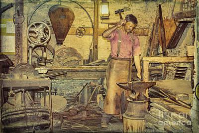 Photograph - The Blacksmith's Forge by Elaine Teague