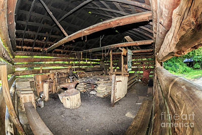 Photograph - The Blacksmith's Shed by Gene Berkenbile