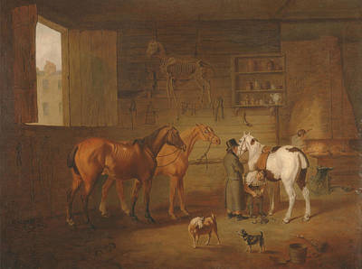 Painting - The Blacksmith's Shop by Treasury Classics Art