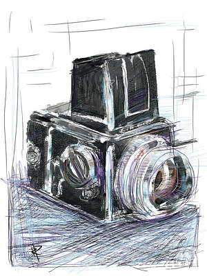 Vintage Camera Mixed Media - The Blad by Russell Pierce