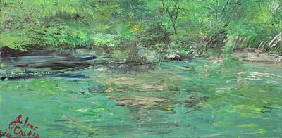 Wimberley Painting - The Blanco At Wimberly by Julene Franki