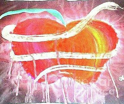 Painting - The Bleeding Heart Of The Illuminated Forbidden Fruit by Talisa Hartley