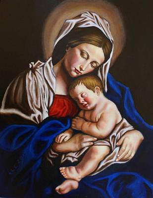 The Blessed Mother And The Infant Jesus Art Print