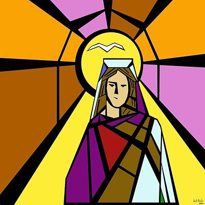 Mother Mary Digital Art - The Blessed Mother by Lee Wastler
