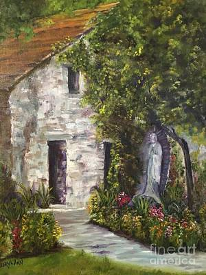 Painting - The Blessed Virgin Of Mission San Jaun by Cheryl Damschen
