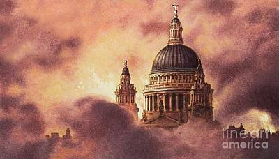 Dome Painting - The Blitz by Pat Nicolle