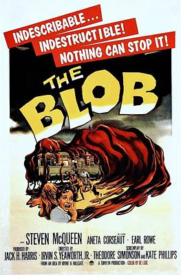 The Blob  Art Print by Movie Poster Prints